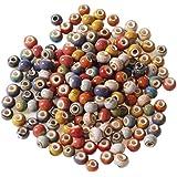 Perlina Rotonda In Ceramica Perline In Ceramica Retrò Branelli Allentati Rotondi Retrò Gioielli Perline Ceramica Accessori Pe