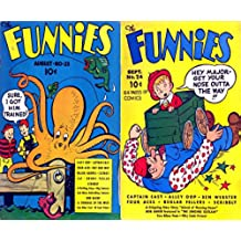 """The Funnies issues 23 & 24. Features Captain Easy, Alley Oop. Ben Webster, Four Aces, Reglar Fellers, ScribblyA Gripping New Story """"Island of Flaming Doom"""" ... and humour comics Book 1) (English Edition)"""