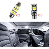 For Bora Jetta MK4(no sunroof) Super Bright LED Interior Lights Source Car Lamp Replacement Bulbs White Pack of 3