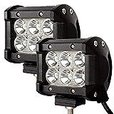 2Pcs LED Arbeitsscheinwerfer Auto Scheinwerfer Zusatz Wasserdicht Staubdicht Strahler Gut zu Befestigen (18W)