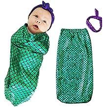 YiJee Bebé de Verano Saco de dormir Mar-criada Sirena Anti-tipi