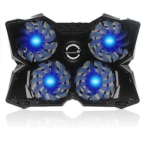 almondcy Laptop Cooling Pad 15–17inch portatile di gioco usb ventola di raffreddamento con 4ventole a 1200RPM, luce LED, doppia porta USB, portatile, leggero e silenzioso