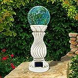 Solalite® Mosaik Solar Kugel auf Säule Outdoor Garten Dekoration