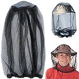 Mosquito Head Net, Malla de Protección de la Máscara de la cara Anti-mosquito Bee Insecto Fly Mask Hat para la Apicultura Apicultor de Pesca al Aire Libre, IHUIXINHE Repelente de Insectos Netting