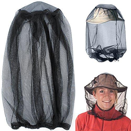 Moskito Kopf Netz, Mesh Schutzhülle Maske Gesicht Anti-Moskito Biene Bug Insekt Fliegen Maske Hut für Bienenzucht Imker Outdoor Angeln, IHUIXINHE Insektenschutz Netting