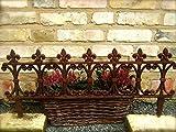 Antikas - Fenstergitter schöner Blumenkasten-Halter, Ziergitter als Halterung, Beetstecker