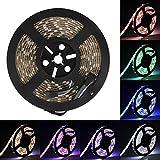LED Streifen Supernight SMD 5050 LED Strip RGBW Lichterkette (RGB+Weiß) Wasserdicht IP65 16.4ft 5M 300LEDs LED Band Beleuchtung Band-Lampe [Strip ONLY]