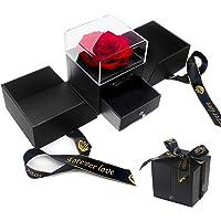 E-MANIS La Bella e la Bestia Rose Confezione Regalo di Gioielli in Rosa Conservati a Mano,Fiore Mai Appassito,Regali per…