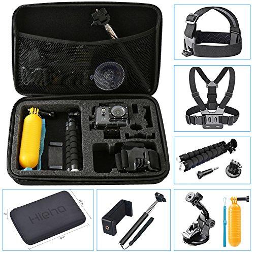 Preisvergleich Produktbild Hieha 23 in 1 Zubehör Set Action Kamera Zubehör Kit für GoPro Hero Session 1 2 3 3 4 5 6 SJ4000 5000 6000 mit Brustgurt Kopfband Schwimmer Handgriff Dreibeinstativ usw.