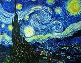 Sternennacht, ca. 1889 Oben Poster Print vON Vincent van Gogh, 61x91,4x61cm