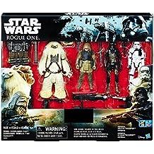 STAR WARS ROGUE UNO Exclusivo Figura de acción 4 Pack Incluye: REBEL COMMANDO ra- ,moroff, Imperial Death Trooper y Imperial soldado imperial