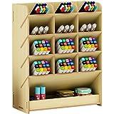 Boîte de rangement en bois multifonction pour stylos à la maison, au bureau et à l'école Érable blanc.