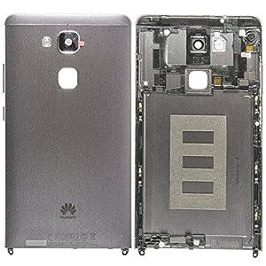 Original Huawei Akkudeckel black / schwarz für Huawei Ascend Mate 7 (Akkufachdeckel, Batterieabdeckung, Rückseite, Back-Cover)