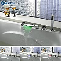 Vasca da bagno rubinetto Luce LED cascata