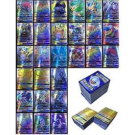 Dorara 200 Pezzi Pokemon Carte GX Nessuna Ripetizione , Pokemon Flash Carte, Carta collezionabile, Puzzle Divertente…
