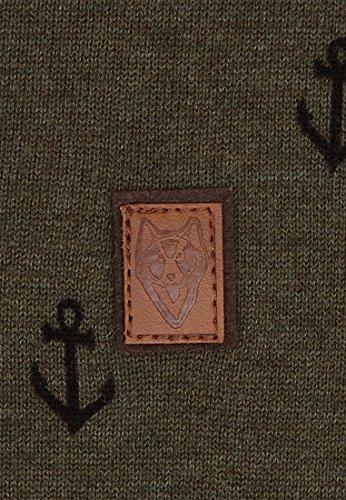 Naketano Male Knit Guck auf meine Hoden II Olive Melange