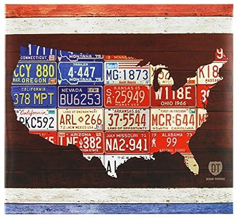 Mbi Plaque Immatriculation américaine Post Bound Scrapbook 12x 30,5cm