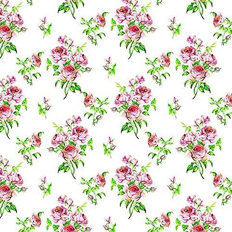 20 Servietten kleine Rose Vintage Hochzeit Liebe Blumen-Strauß Muster