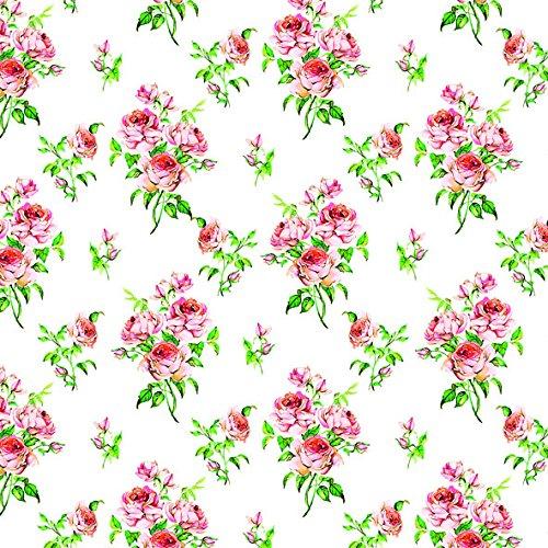 20 Servietten kleine Rose Vintage Hochzeit Liebe Blumen-Strauß Muster 33 x33cm