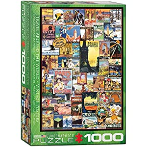 "Eurographics 6000-0755""Travel The World Vintage Ads - Puzzle (1000 Piezas)"