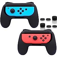 FASTSNAIL Impugnature per Nintendo Switch Joycon,Controllo Joy Con Grips per Nintendo Switch 2 pacchi con 6 prese del…