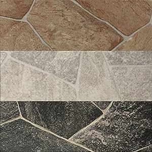 pvc vinyl bodenbelag in bruchstein dunkel optik cv pvc belag verf gbar in der breite 300 cm. Black Bedroom Furniture Sets. Home Design Ideas