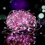 100er LED Lichterkette Rosa Innen für Weihnachten Hochzeit Zimmer Beleuchtung