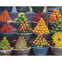 Frutas - Stand Of Fruits Póster Impresión Artística (30 x 24cm)