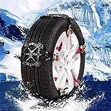 Cheerfulus Universal Schneeketten, Anfahrhilfe Anti Skid Nail Auto Snow Tire Ketten, Auto Winter Reifen Anti-Rutsch-Gürtel,Verdickung TPR Chain Tire - Auto Zubehör