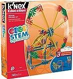 K'NEX Education STEM Explorations Gears Set de construcción para edades de 8 años y más juguete educativo de ingeniería, 143 piezas