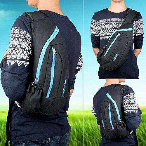 Imagen de vbiger bolso pechera hombro bolsa mensajero  para excursión cámping deporte cámara azul  alternativa