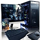 VIBOX Gaming PC - Hercules Package 11 - 4.5GHz Intel i7 Quad Core CPU, 2x GTX 1070 GPU, VR Ready, Water Cooled, Desktop Computer with Game Bundle, 23