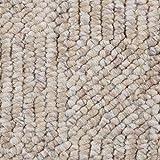 Teppichboden Auslegware Meterware Schlinge meliert gemustert beige weiß 400 und 500 cm breit, verschiedene Längen