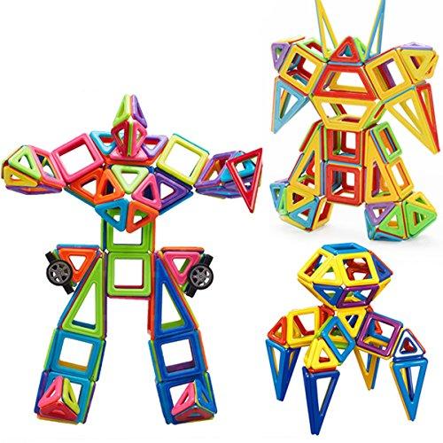 Genießen Mini Magnetische Bausteine Konstruktionsbausteine Bauklötze Baukasten Konstruktion Blöcke Magnetspielzeug Lernspielzeug für Baby Kleinkind (95 tlg)