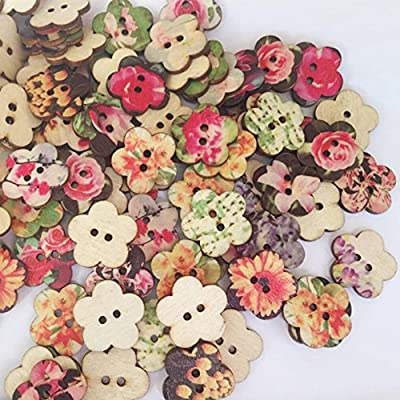 L-FENG-UK XXWG Plum Blossom Shaped Buttons 14mm 18mm 24mm for Sewing Scrapbooking Embelishments Crafts Jewellery making Knitting : everything £5 (or less!)