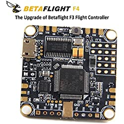 LITEBEE BetaFlight F4 Controladora De Vuelo OSD AIO F4 Flight Controller (Integrated PDB Power Distribution Board, BEC Rated to 1.5a 5v, Current Sensor, OSD MAX Current 145A) for FPV Racing RC Drone