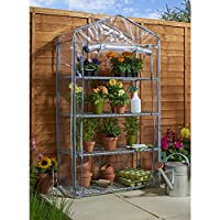 Heavy Duty Sterling 4 Tier Greenhouse Large (164x90x49cm)