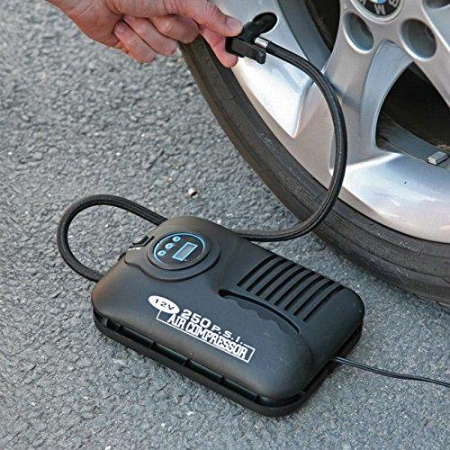 Easy Life Pneu numérique Compresseur d'air 3,7m Cordon d'alimentation Prise Allume-Cigare Pompe 12V