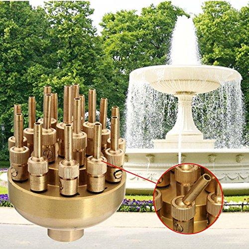 1 pollice Fontana regolabile in ottone ugello Garden Pool Paesaggio spruzzatore