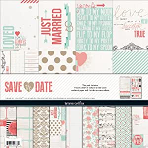 """Teresa Collins Collection Pack 12""""X12""""-Save The Date"""