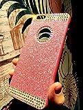 Custodia iPhone 6 Glitter, iPhone 6S Cover Silicone, SainCat Cover per iPhone 6/6S Custodia Silicone Morbido, Custodia Bling Glitter Strass Diamante Rhinestones 3D Design Ultra Slim Silicone Case Ultra Sottile Morbida TPU Gel Cover Brillantini Case Shock-Absorption Anti Scivolo Custodia Glitter Protettiva Cover Gomma Case Caso Ultra Thin Slim Protettiva Anti-scratch Skin Cover Shell Case Coperture Bumper Cover per iPhone 6/6S-Rosa immagine