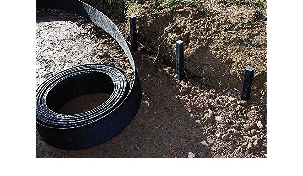 beetabgrenzung flex pond edge board 125 m x 130 mm lawn edging teichkante system amazoncouk garden outdoors edelstahl