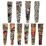Naler 10 Mangas de Tatuaje, temporales, Falsas Mangas de Tatuaje, Calcetines, Vestido de Fantasía para Hombres y Mujeres