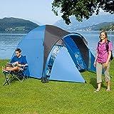 Kuppelzelt Kiwi NZ 4 Plus, blau/grau, 4 Personen, Campingzelt, 3000mm Wassersäule, Zeltboden wasserdicht, Festivalzelt