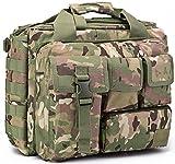 tacvasen al aire libre 15'Laptop Messenger Bag poliéster Molle táctico muiti-pocket impermeable bolso verde CP
