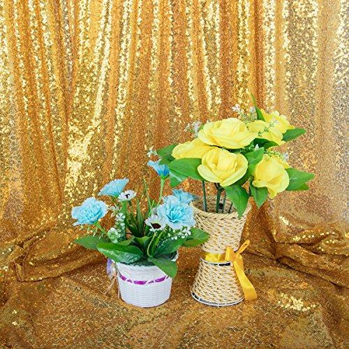 4x6ft Gold Pailletten Fotografie Hintergründe, Pailletten Foto Booth Hintergrund Kulisse, Party Hintergründe, Hochzeit Hintergründe, Zeremonie Hintergründe, DIY Photobooth, Weihnachtsdekoration