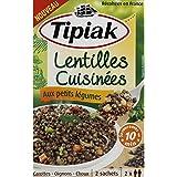 Tipiak - Lentilles vertes cuisinées aux petits légumes - Les 2 sachets de 120g - Prix Unitaire - Livraison Gratuit...