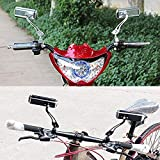 SStaste Bike Spiegel, 1Paar Aluminium Mountain Fahrrad Motor Scooter Rear View Rückseite Spiegel Außenspiegel