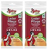 Poliboy - Feuchttücher für Glatt- und Kunstleder - 2x20 Tücher (2er, Leder Pflege)