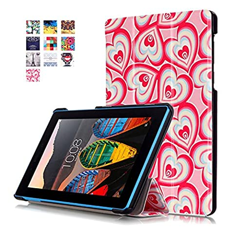 Etui Tablette Lenovo Tab3 7 Essential 710F,Housse en PU Cuir Flip Case Cover Etui de Protection pour Lenovo Tab 3 7 Essential (Tab3-710) / Tab3 A7-10 7''Pouces Tablette ave Support de Fonction,Fantastique